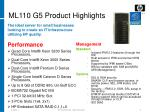 ml110 g5 product highlights
