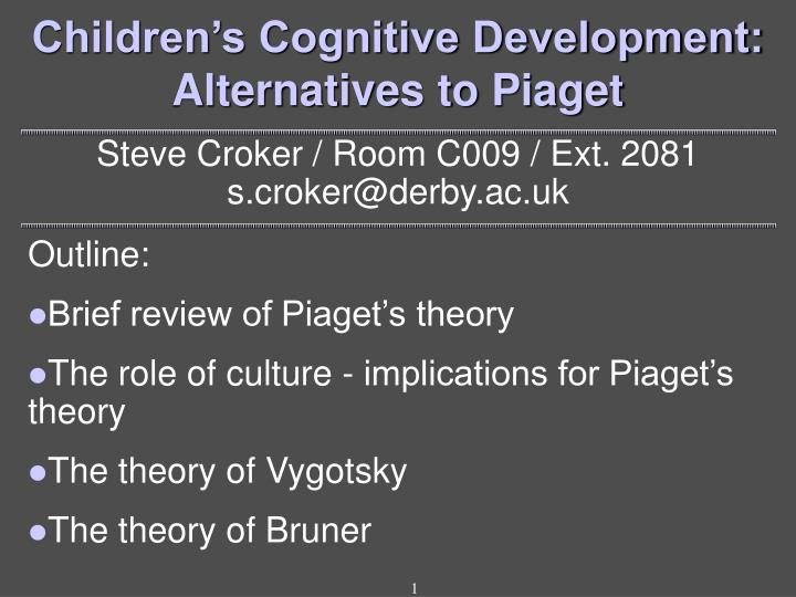alternatives to piaget critical essays on the theory Oxmoonde.