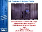 dell powervault storage family