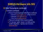 gsbug hardware info sig16