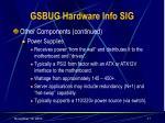 gsbug hardware info sig17
