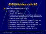 gsbug hardware info sig21