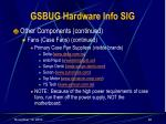 gsbug hardware info sig22