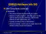 gsbug hardware info sig23