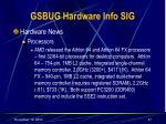 gsbug hardware info sig27