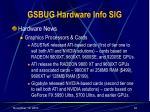 gsbug hardware info sig32