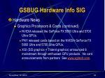gsbug hardware info sig34