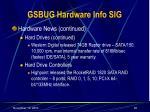 gsbug hardware info sig36
