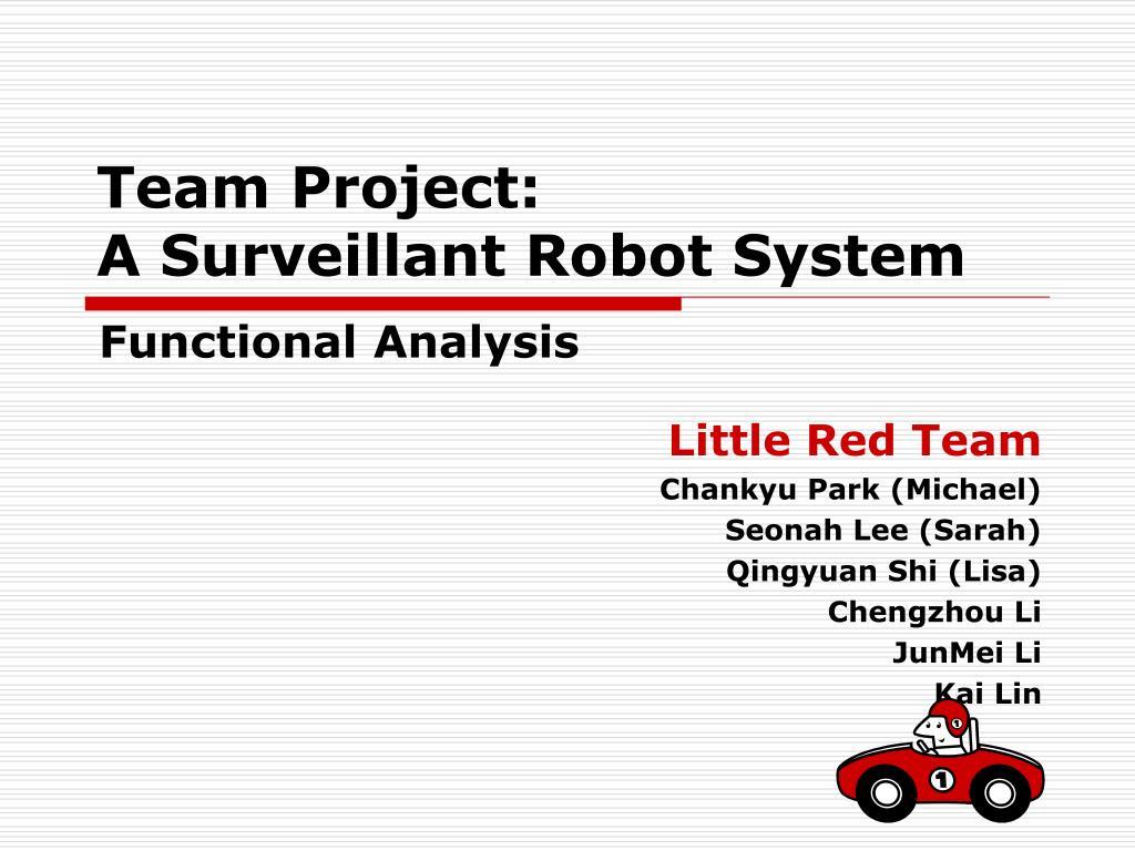 team project a surveillant robot system l.