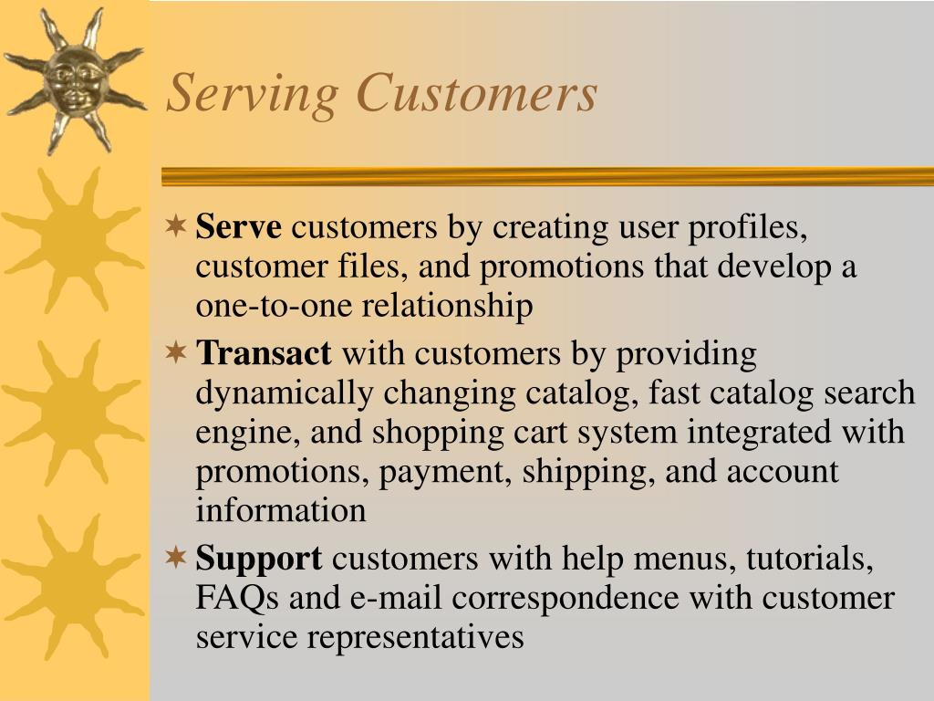 Serving Customers