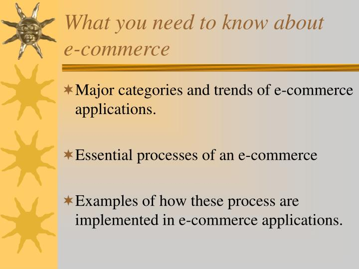 What you need to know about e commerce