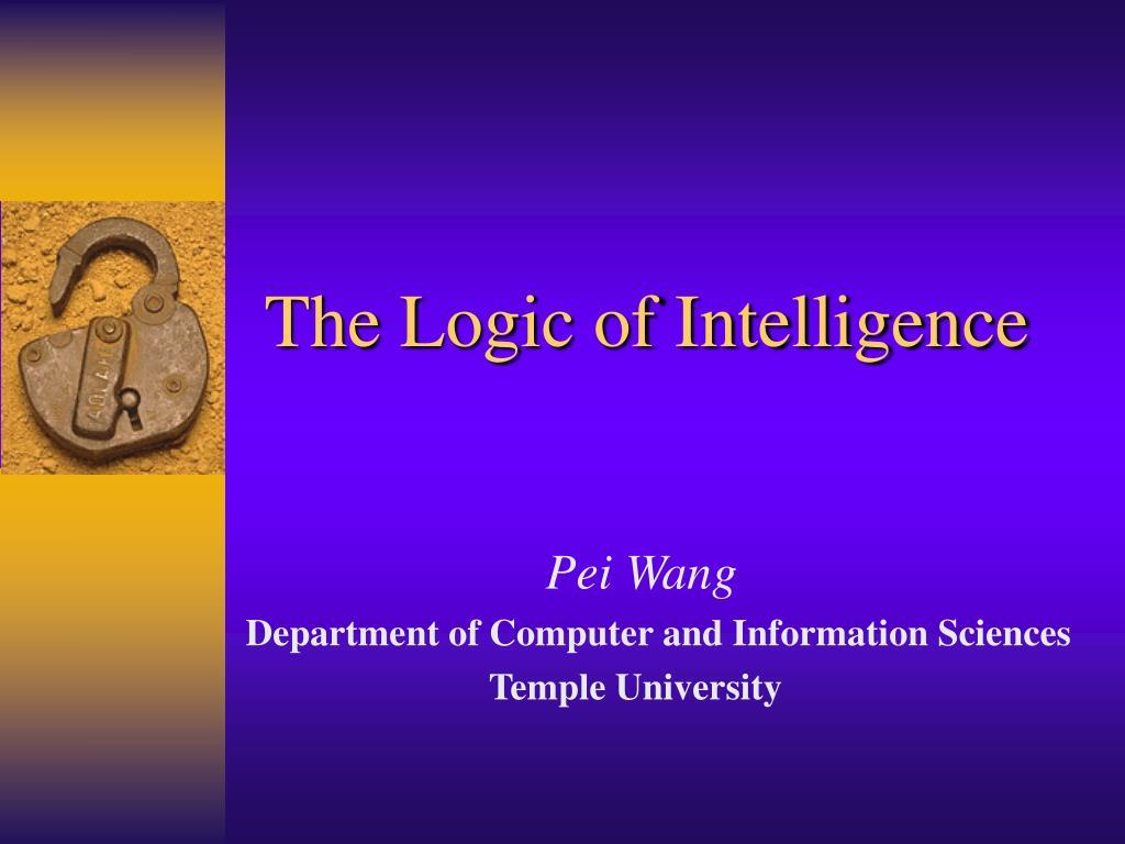 the logic of intelligence l.