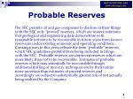 probable reserves