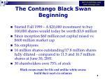 the contango black swan beginning