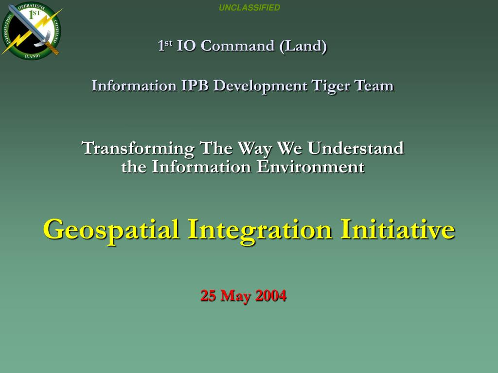1 st io command land information ipb development tiger team l.