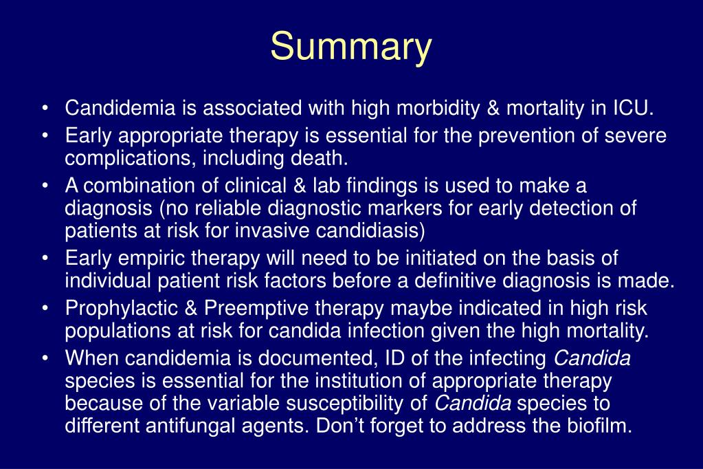 Candidemia is associated with high morbidity & mortality in ICU.