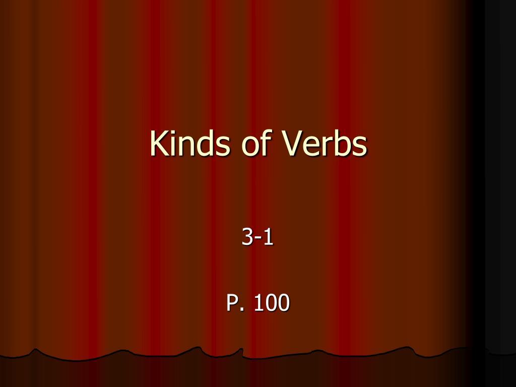 kinds of verbs l.