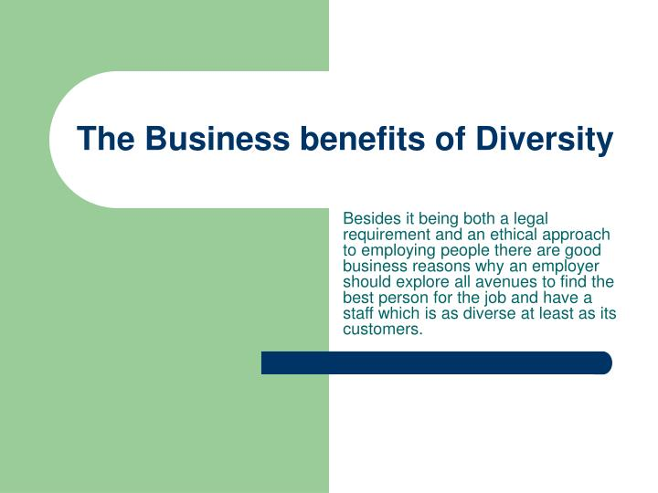 The business benefits of diversity