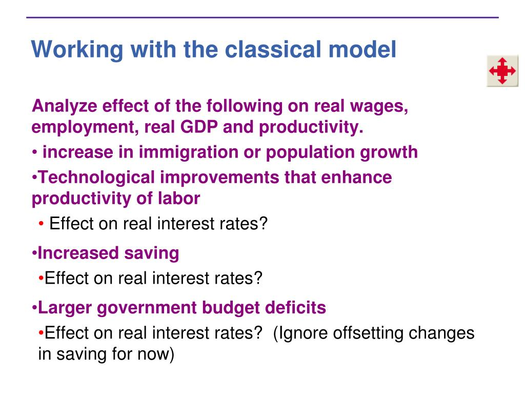 Working with the classical model