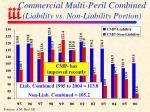 commercial multi peril combined liability vs non liability portion