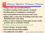 energy market primary threats