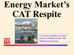 energy market s cat respite