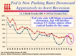 fed is now pushing rates downward aggressively to avert recession