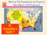 most of us population property has major cat exposure