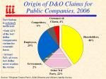 origin of d o claims for public companies 2006