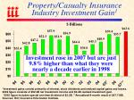 property casualty insurance industry investment gain 1