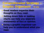 comprehension strategy graphic organizers te 292