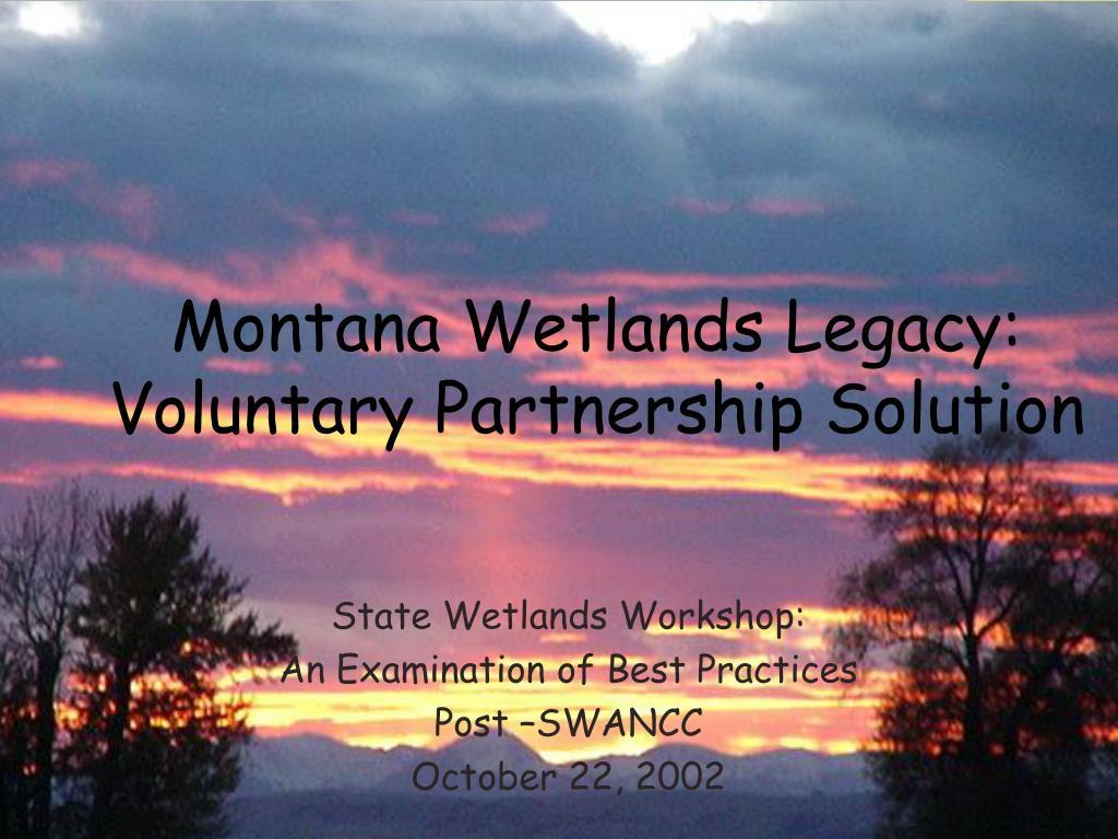 state wetlands workshop an examination of best practices post swancc october 22 2002 l.