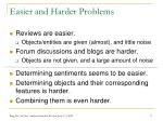easier and harder problems