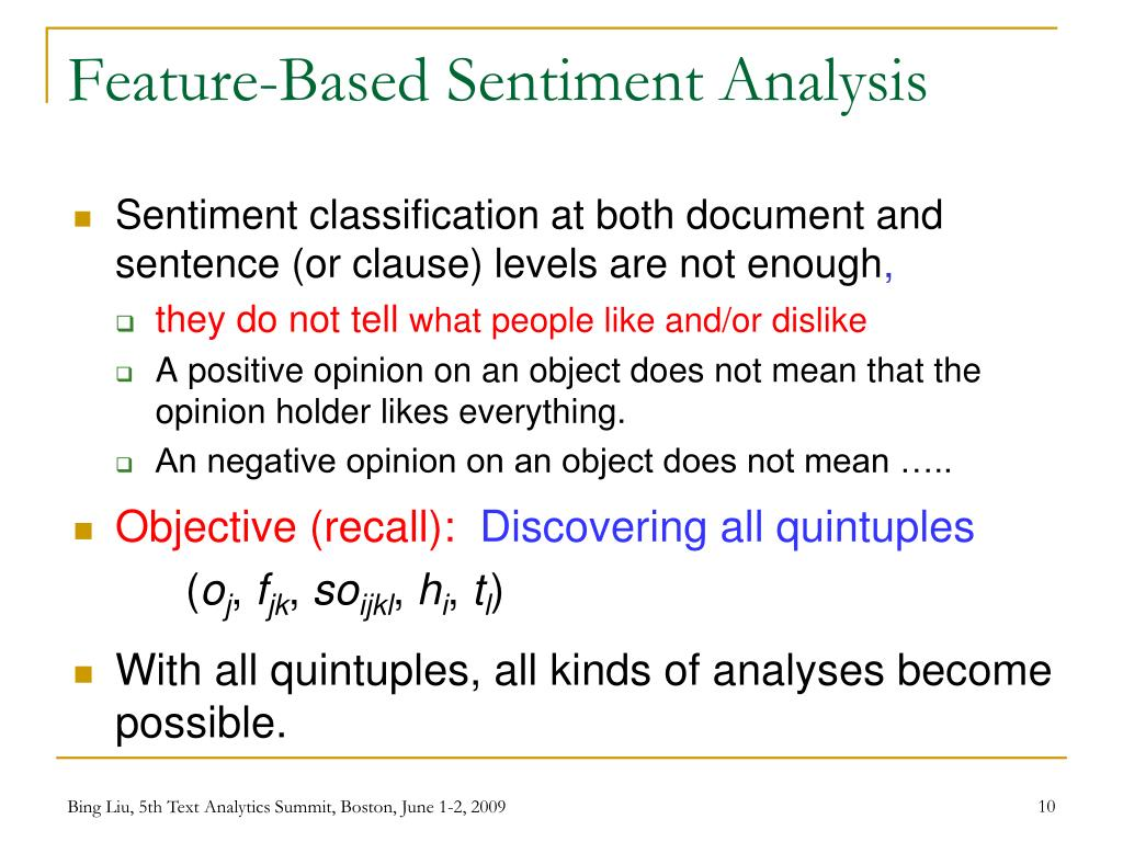Feature-Based Sentiment Analysis