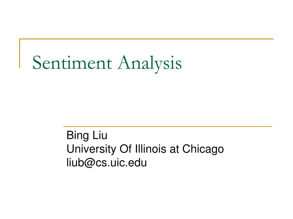 sentiment analysis l.