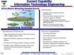 current capability information technology engineering