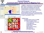 current projects communication assets survey mapping tool