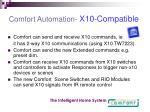 comfort automation x10 compatible