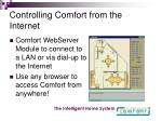 controlling comfort from the internet