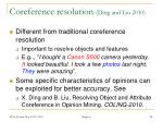 coreference resolution ding and liu 2010