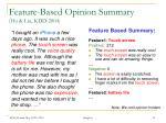 feature based opinion summary hu liu kdd 2004