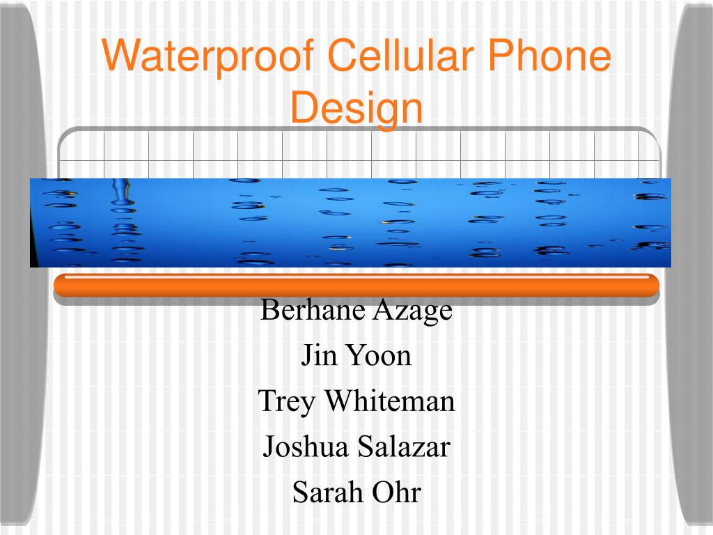 waterproof cellular phone design l.