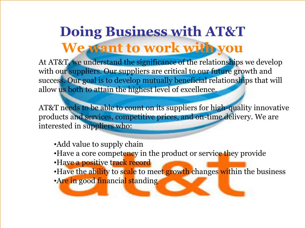 Doing Business with AT&T