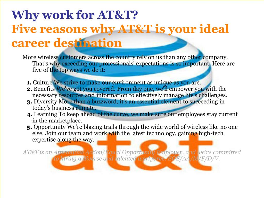 Why work for AT&T?