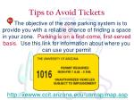 tips to avoid tickets4