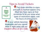tips to avoid tickets5