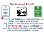 tips to avoid tickets7