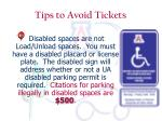 tips to avoid tickets8