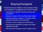 staying energized