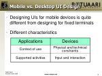 mobile vs desktop ui design